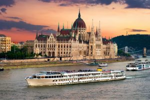 River cruise on the Danube to Budapest